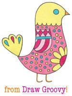 Learn how to draw a cute bird in the book Draw Groovy by Thaneeya McArdle