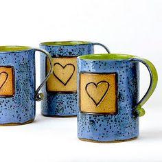 Glazed Heart Mugs
