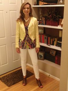 Vintage Daisy Jacket, Spring 12 ~Petal Jacket and white brees -