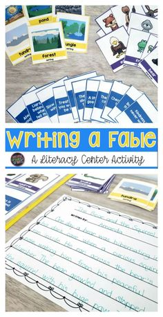 Students struggling to write their own fables? This writing center can help! My grade class loved it and it provided them just the support they needed to be successful! With hundreds of combinations possible, you can use it again and again! Teaching Vocabulary, Teaching Phonics, Teaching Second Grade, Third Grade, Writing Plan, Writing Anchor Charts, Notebook Organization, 2nd Grade Classroom, Writer Workshop