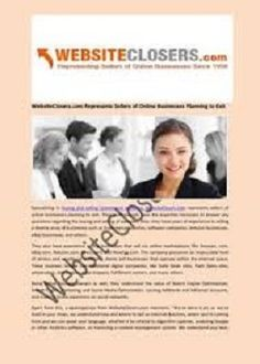 WebsiteClosers is an online marketplace to sell your website. We are experts in selling premium, established online businesses, including eCommerce and Amazon businesses. Call 800-251-1559 Now!