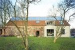 Crumbling Stone Barn Renovated Into Rammed Earth Ihlow House in Germany