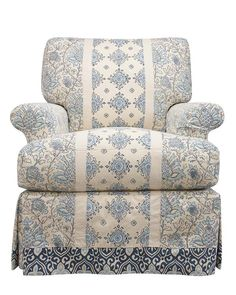This is a new spin on the idea of mixing fabrics on one piece of furniture. A great way to have a modern mix of print and/or solid fabrics! Currently Lee is only offering this type of fabric application on this specific chair style (C3794-01) and in the fabrics show below (fabrics are also available in a green color way). The fabrics available for this are Luci Green or Blue, Lacy Green or Blue, and Lizzie Gree…