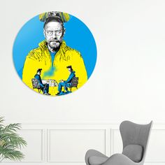 Discover «Breaking bad», Exclusive Edition Disk Print by Paola Morpheus - From 80€ - Curioos