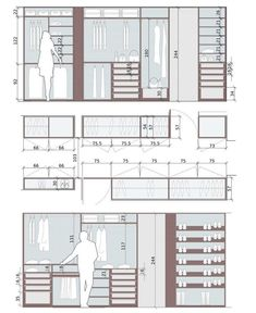 Wardrobe design and dimensions - House Plans, Home Plan Designs, Floor Plans and Blueprints Wardrobe Room, Wardrobe Design Bedroom, Master Bedroom Closet, Bedroom Decor, Entryway Decor, Walk In Wardrobe, Bathroom Closet, Bedroom Black, Modern Bedroom