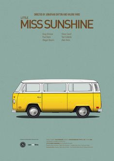 Posters of Famous Movie Cars by Jesús Prudencio. - Little Miss Sunshine | Illustration