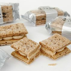 """[Tsuyu-datami] Crispy, light and sweet biscuits braised with sugar, sandwiching cream. Made in Hokkaido, Japan by a famous shop """"Rokka-tei""""."""