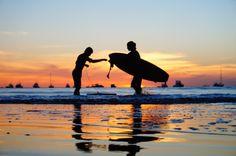 El color del surf en san juan del sur