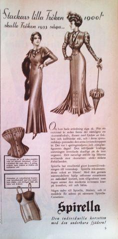 Ad for Spirella corsets, 1933