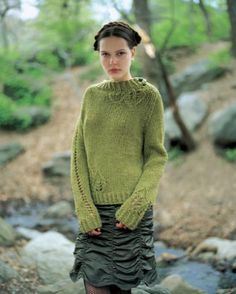 Ravelry: Lace Leaf Pullover pattern by Teva Durham