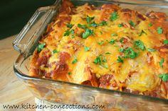Kitchen Concoctions: Smokey Turkey Enchiladas #recipe #dinner