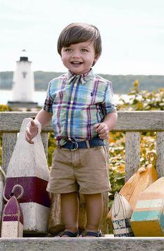 Ralph Lauren Shirt, Shorts & Boat Shoe (Infant)   Nordstrom- nordstrom.com #kidseaster
