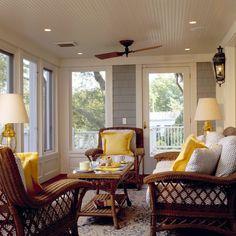 Traditional Porch Design Ideas, Pictures, Remodel and Decor Sunroom Decorating, Interior Decorating, Interior Design, Room Interior, Interior Ideas, Decorating Ideas, Porch Kits, Porch Ideas, Sunroom Ideas