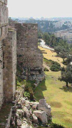 Gerusalemme muro di Solimano della città vecchia.