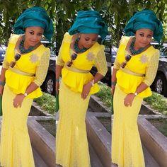Creative Lace Skirt and Blouse Style ~African fashion, Ankara, kitenge, African women dresses, African prints, Braids, Nigerian wedding, Ghanaian fashion, African wedding ~DKK
