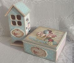 Купить Чайный набор Сладкоежка. - голубой, чайный домик, чайный набор, конфетница, конфетница декупаж