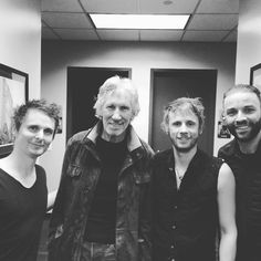 MUSE backstage in Brooklyn with Roger Waters (28 January 2016).