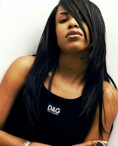 Aaliyah in D&G Dolce & Gabbana Designer Black Fashion