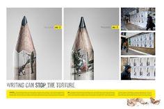 Amnesty International: Sharpen Your Pencil #Advertising