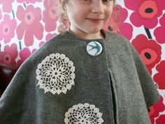 Piccalilli - NZ Designed Wool Cape - Upcycled Adorable Piccalilli, Wool Cape, Winter Outfits, Winter Clothes, Fun Crafts, Upcycle, Projects To Try, Trending Outfits, Sweatshirts