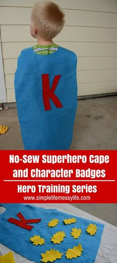 """Before we get started with the Hero Training challenges, I wanted to share with you an optional, but super fun idea. A superhero cape with character """"badges""""! I thought it would be fun to keep track of the completion of the challenges similar to scouts with their vests and badges, but with a super hero …"""