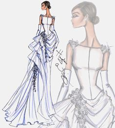 #Hayden Williams Fashion Illustrations #Bridal Couture 2014 by Hayden Williams: Look 2
