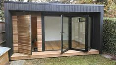 Now You Can Build ANY Shed In A Weekend Even If You've Zero Woodworking Experience! Start building amazing sheds the easier way with a collection of shed plans! Outdoor Office, Backyard Office, Backyard Studio, Outdoor Rooms, Garden Office Uk, Backyard Kitchen, Garden Pods, Small Garden Pod, Garden Container