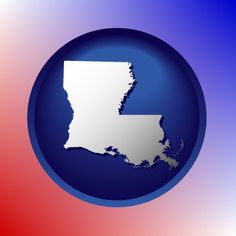 Amazing Louisiana map icon.