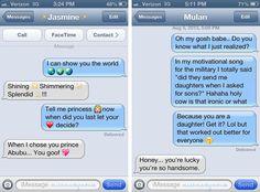 When Disney Princesses Text - Neatorama