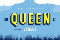 Queen Street Display Font [SALE] by Vintage Type Co. on @Graphicsauthor