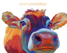 Cow Graphic Style Paper Canvas Wood by betsymclellanstudio Painting & Drawing, Cow Painting, Cow Drawing, Pintura Graffiti, Cow Pictures, Cow Pics, Nursery Prints, Nursery Decor, Cow Nursery
