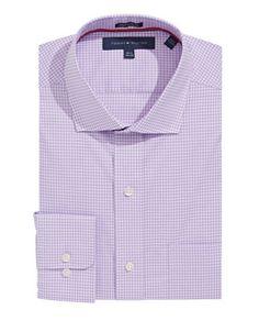 TOMMY HILFIGER TOMMY HILFIGERGingham Cotton Dress Shirt. #tommyhilfiger #cloth #