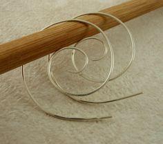 10 Pairs Spiral Argentium Sterling Silver Ear by UnkamenSupplies, $125.00