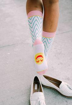 The happiest socks ever. [wovenpear.com] #socks #wovenpear