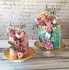 Red velvet double drip cake inspired by and topper by Gorgeous Cakes, Pretty Cakes, Amazing Cakes, Happy Birthday Sam, Birthday Cake Girls, Bolo Sofia, Cake Trends 2018, Elegant Birthday Cakes, Bolo Cake