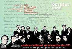 Publicidad generación del 27. XVIII Premio Internacional de Poesía Generación del 27.