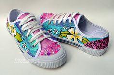 DIY - girls tennis shoes....amazingly cute!