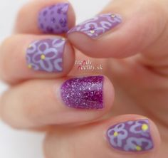 lilac manicure, nail art, nail design