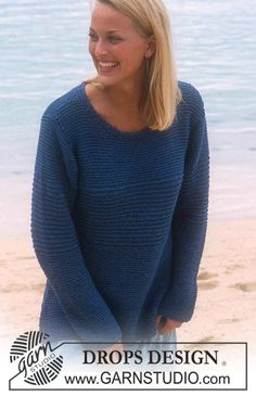 Free pattern: DROPS Pullover in Muskat and Glitter ~ DROPS Design