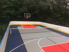 Outdoor basketball court home backyard basketball for Backyard multi sport court