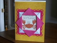 Framed Crab by SingsHeart - Cards and Paper Crafts at Splitcoaststampers