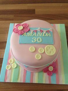 30th birthday cake pastel colours