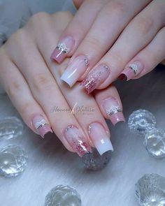 Nails image by Tina Chris in 2020 Rose Gold Nails, Pink Nails, Gel Nails, Bride Nails, Wedding Nails, Best Acrylic Nails, Acrylic Nail Designs, Cute Nails, Pretty Nails