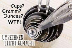 Umrechnen von US-Maßen in deutsche und noch viel wissenswertes fürs Backen