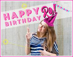 A very HAPPY BIRTHDAY to our gorgeous, finger-gun-slingin' Digital Unicorn, Rochelle! We hope you have a rad day!