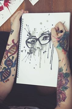 Uploaded by Acuarela. Find images and videos about art, black and white and tattoo on We Heart It - the app to get lost in what you love. Body Art Tattoos, Cool Tattoos, Graffiti Wildstyle, Alternative Art, Art Hoe, Orphan Black, Tattoo Blog, Deathly Hallows Tattoo, Traditional Tattoo