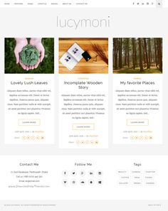 Lucymoni is a cool aristocrat #Bootstrap #blogging and magazine #theme created for the creatives website download now➯ https://themeforest.net/item/lucymoni-responsive-wordpress-blogging-theme/15861301?ref=Datasata