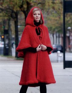 Red Crochet coat