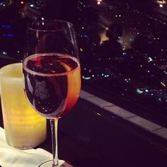Discovered a luxury for less tip at the CN Tower - have dinner at 360 the revolving restaurant.  It's a cheap night on the Kir Royales. I was giddy by the time we got on terra firma and on just one Royale. #luxurytoronto