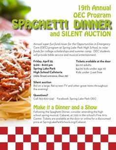 Benefit Supper Flyer  Comment  Allie    Benefit